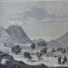 Arte: COLLADO DE ALPUENTE VALENCIA GUERRAS CARLISTAS GRABADO XILOGRAFICO XILOGRAFIA 1875. Lote 257468870