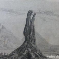 Arte: GRAN CANARIA ROQUE O AGUJA DEL ROSARIO GRABADO XILOGRAFICO XILOGRAFIA 1875. Lote 257479105