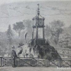 Arte: ROMA HIDROCRONOMETRO DE PINCIO GRABADO XILOGRAFICO XILOGRAFIA 1875. Lote 257480070