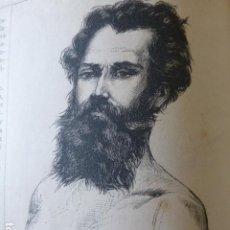 Arte: TANGER MARRUECOS RETRATO DE SUICIDA GRABADO XILOGRAFICO XILOGRAFIA 1875. Lote 257480250