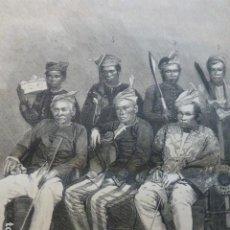 Arte: MINDANAO ISLAS FILIPINAS SULTAN Y PERSONAJES DE LA CORTE GRABADO XILOGRAFICO XILOGRAFIA 1875. Lote 257483225