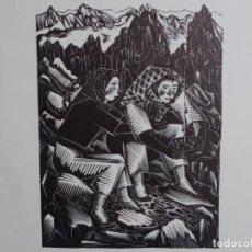 Arte: XILOGRAFÍA ILEGIBLE. TIRADA DE 50 UNIDADES.. Lote 264266072