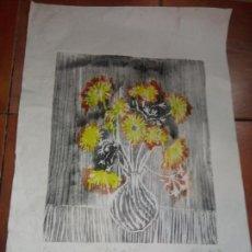 Arte: P/E XILOGRAFIA TITULADA YESTERDAY DEL PINTOR ANTONI SILVESTRE GUARDIA FIRMADA SILVESTRE 94. Lote 265372514