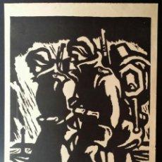 Arte: EXPRESIONISMO: 1º GUERRA MUNDIAL, XILOGRAFÍA FIRMADA Y NUMERADA, 1915. Lote 198203383