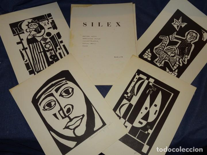 CARPETA GRUPO SILEX 5 XILOGRAFIAS,EDUARD ALCOY,HERNANDEZ PIJUAN,CARLES PLANELL,ROVIRA-BRULL,TERRI, (Arte - Xilografía)