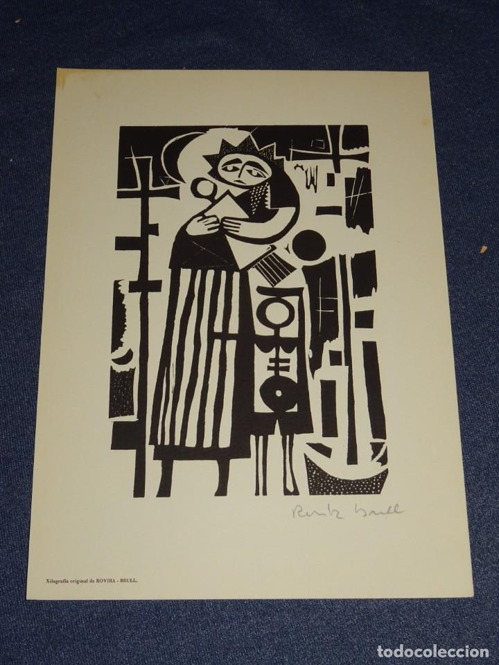 Arte: CARPETA GRUPO SILEX 5 XILOGRAFIAS,EDUARD ALCOY,HERNANDEZ PIJUAN,CARLES PLANELL,ROVIRA-BRULL,TERRI, - Foto 6 - 266516048