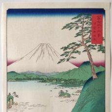 Arte: MAGISTRAL GRABADO JAPONÉS DEL MAESTRO HIROSHIGE I, FUJI SANJYU ROKKEI, EXCELENTE CONSERVACIÓN. Lote 266850659