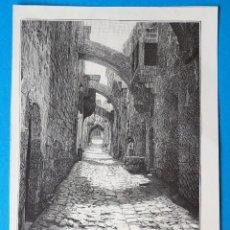 Arte: ANTIGUA XILOGRAFÍA DE JERUSALÉN, VÍA DOLOROSA, TARIQ ES SARAI. Lote 267122604