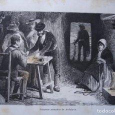 Arte: PRIMEROS SECUESTROS EN ANDALUCIA .AÑO 1876. Lote 267494349