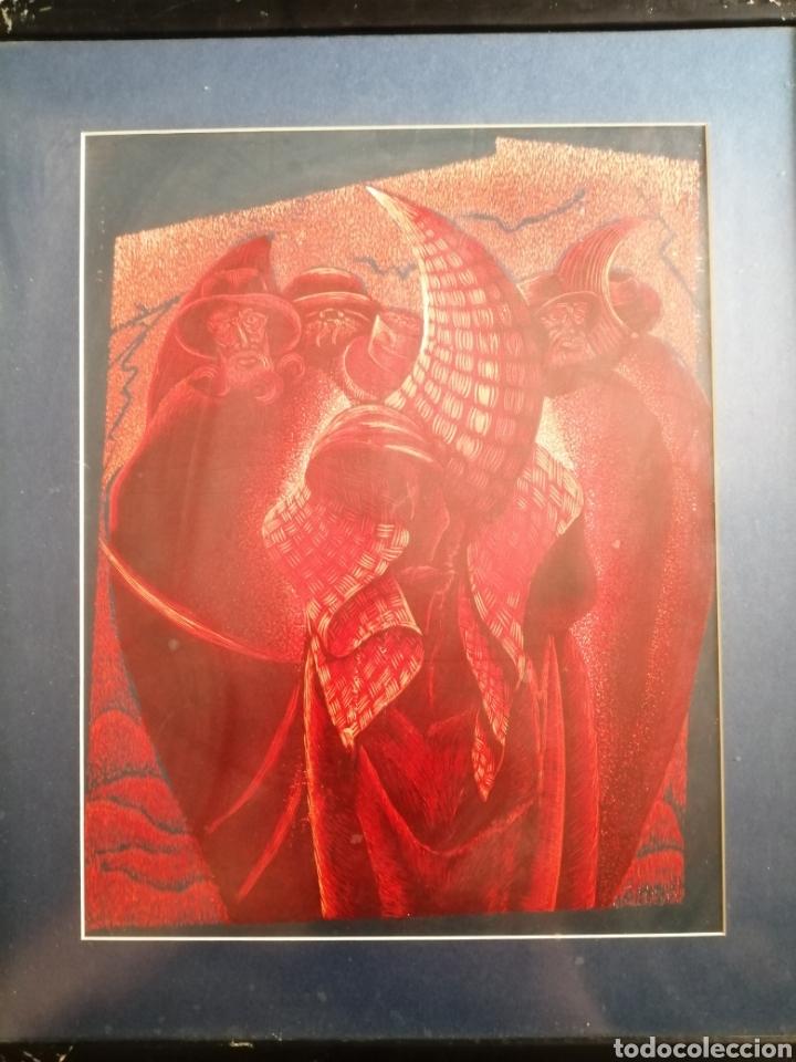 JULIO HERAS. XILOGRAFIA. P/A (Arte - Xilografía)