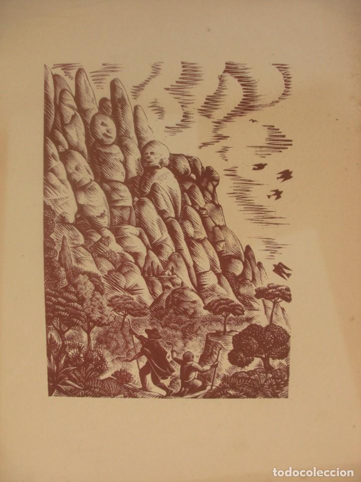 ENRIC C. RICART NIN (VILANOVA I LA GELTRÚ, 1893 - 1960). LOTE 13 XILOGRAFÍAS MONTSERRAT 28 X 22 CM. (Arte - Xilografía)