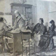 Arte: EL DIVORCIO ANTIGUO GRABADO XILOGRAFICO XILOGRAFIA 1877. Lote 276655363