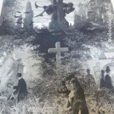 Arte: CONMEMORACION DE LOS FIELES DIFUNTOS ANTIGUO GRABADO XILOGRAFICO XILOGRAFIA 1877. Lote 276660548