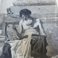 Arte: UN CIUDADANO ROMANO EN 1869 ANTIGUO GRABADO XILOGRAFICO XILOGRAFIA 1877. Lote 276662788