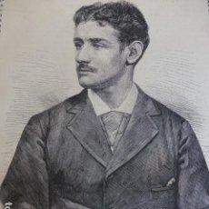 Arte: JUAN ANTONIO CASBESTANY ANTIGUO GRABADO XILOGRAFICO XILOGRAFIA 1877. Lote 276669583