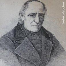 Arte: CARLO MARIA CURCI JESUITA ANTIGUO GRABADO XILOGRAFICO XILOGRAFIA 1877. Lote 276670868