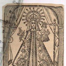 Arte: 1900/30´S CA. DÍAFANA XILOGRAFÍA EN MINIATURA DE NUESTRA SEÑORA DE NURIA TRANSMITE PAZ Y BELLEZA.. Lote 278206758