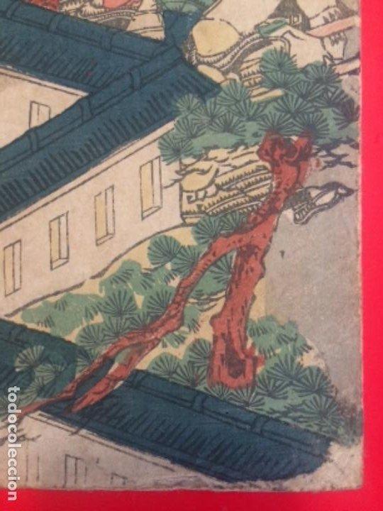 Arte: Batalla de IchinoTani, ukiyoe de Syuntei, Oban 25.5x38cm. - Foto 7 - 278308213