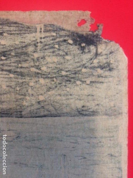 Arte: Batalla de IchinoTani, ukiyoe de Syuntei, Oban 25.5x38cm. - Foto 11 - 278308213