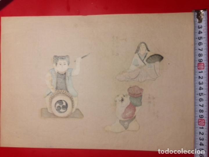 Arte: Juguetes tradicionales locales del periodo Edo 1603-1868 o gyodogangu - Foto 2 - 278387853