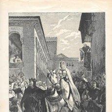 Arte: XILOGRAFIA: MANIFESTACION DE ENRIQUE IV DE CASTILLA A LOS HABITANTES DE SEGOVIA - G-ILUSESP-074. Lote 278929618