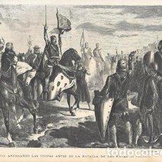 Arte: XILOGRAFIA: ALFONSO VIII ARENGANDO LAS TROPAS ANTES DE LA BATALLA DE LAS NAVAS (DE CASANOVA). Lote 279378943