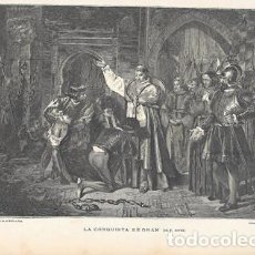 Arte: XILOGRAFIA: LA CONQUISTA DE ORAN (DE F. JOVER) - G-ILUSESP-092. Lote 279379563