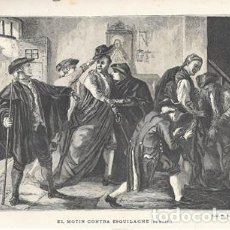 Arte: XILOGRAFIA: EL MOTIN DE ESQUILACHE (DE MARTI) - G-ILUSESP-098. Lote 279403233
