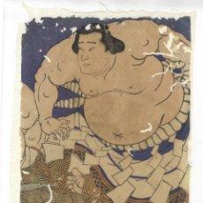 Arte: 8 YOKOZUNA SHIRANUI MITSUEMON (1801-1859) UKIYOE DE KUNITERU II,. Lote 279484988