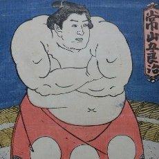 Arte: TSUNEYAMA GOROJI, UKIYOE DE TOYOKUNI II-III, 1852 EDO, OBAN 36.9X25.3CM. Lote 279485043