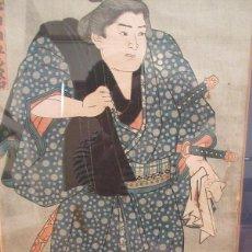 Arte: TSUNEYAMA GOROJI, UKIYOE TOYOKUNI II-III O KUNISADA I,1854, EDO, OBAN 34.5X 24CM. Lote 279485183