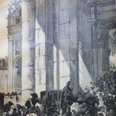 Arte: ROMA LA MUERTE DEL PAPA PIO IX ANTIGUO GRABADO XILOGRAFICO XILOGRAFIA 1878. Lote 286995713
