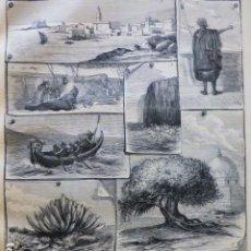 Arte: ARRECIFE LANZAROTE EL HIERRO SIDI IFNI SAHARA ANTIGUO GRABADO XILOGRAFICO XILOGRAFIA 1878. Lote 286997428