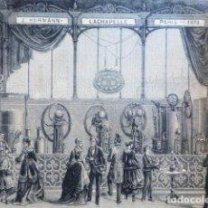 Arte: PARIS FABRICACION DE BEBIDAD GASEOSAS ANTIGUO GRABADO XILOGRAFICO XILOGRAFIA 1879. Lote 287003363