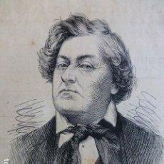 Arte: LEMAITRE ACTOR FRANCES GRABADO XILOGRAFICO XILOGRAFIA 1876. Lote 287138818