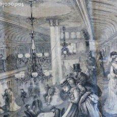 Arte: SALON DEL VAPOR BRISTOL GRABADO XILOGRAFICO XILOGRAFIA 1876. Lote 287152643