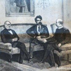 Arte: BERLIN CANCILLERES CUESTION DE ORIENTE GRABADO XILOGRAFICO XILOGRAFIA 1876. Lote 287159298