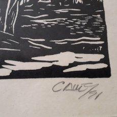 Arte: XILOGRAFÍA DEL ARTISTA CUBANO ANTONIO CANET FIRMADA FECHADA Y NUMERADA. Lote 289257183