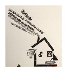 Arte: UWE BREMER - XILOGRAFÍA FIRMADA Y NUMERADA. Lote 289732088