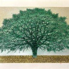Arte: HAJIME NAMIKI - TREE SCENE 84 - XILOGRAFÍA AÑO 1998. Lote 293335248