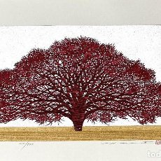 Arte: HAJIME NAMIKI - TREE SCENE 123 - XILOGRAFÍA AÑO 2006. Lote 293336648