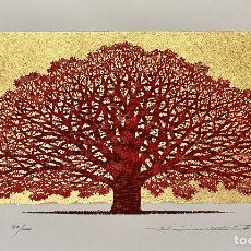 Arte: HAJIME NAMIKI - TREE SCENE 151 - XILOGRAFÍA AÑO 2016. Lote 293355273