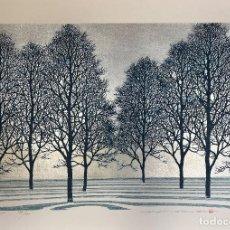 Arte: HAJIME NAMIKI - TREE SCENE 115 - XILOGRAFÍA AÑO 2004. Lote 293361498