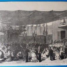 Arte: ANTIGUA XILOGRAFÍA : MADRID. INAUGURACIÓN SOLEMNE DEL MUSEO ARQUEOLÓGICO NACIONAL. Lote 294130428