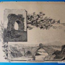 Arte: ANTIGUA XILOGRAFÍA :EL PUENTE DEL DIABLO. EN MARTORELL. Lote 294133883