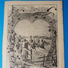 Arte: ANTIGUA XILOGRAFÍA : EL SPORT EN BARCELONA, RECUERDO DE LAS CARRERAS DE CABALLOS DE 1886. Lote 294387738
