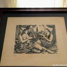 Arte: XILOGRAFÍA DE ENRIC CRISTÓFOR RICART NIN. CONCERT. FIRMADA Y NUMERADA. Lote 295473608