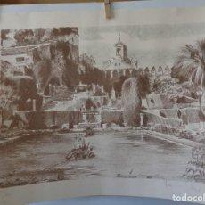 Arte: # JARDINES DE LA MEZQUITA, DE CORDOBA. XILOGRAFIA. FIRMADA Y NUMERADA. #. Lote 296576543