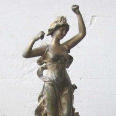 Arte: FIGURA DE CALAMINA Y BASE DE MARMOL. Lote 15791682