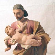 Arte: SAN JOSÉ CON NIÑO. SIGLO XVIII. POPULAR. Lote 23202564